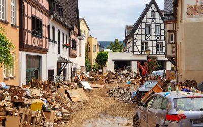 Hilfe für Opfer des Hochwassers in Deutschland